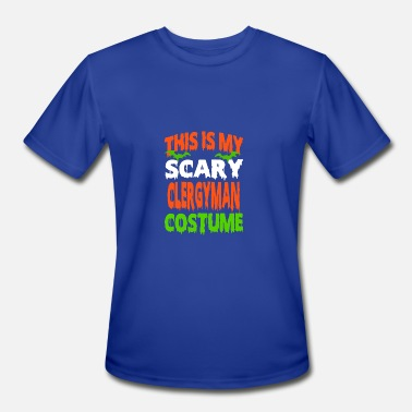 Clergyman Clergyman - SCARY COSTUME HALLOWEEN SHIRT - Men's Moisture Wicking Performance T-Shirt