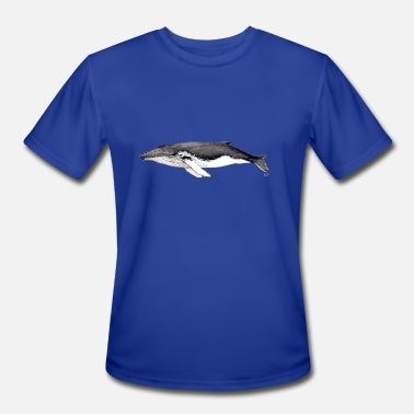 Whale Song Humpback whale - Megaptera novaeangliae - Men's Moisture Wicking Performance T-Shirt