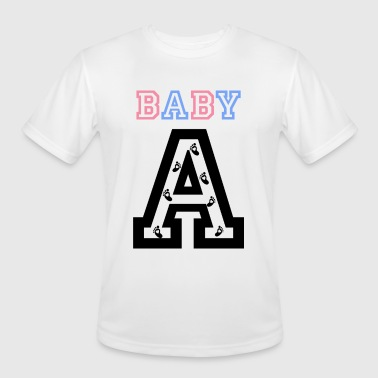 Twin Baby Twins - Baby gender reveal for baby A - Men's Moisture Wicking Performance T-Shirt