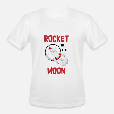 Rocket Moon Rocket to the Moon - Men's Moisture Wicking Performance T-Shirt