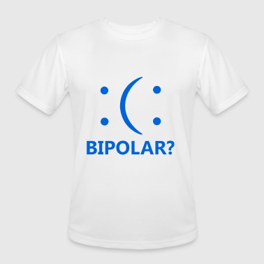 Bipolar Funny Emoticon Humor TEE Geek Nerd - Men's Moisture Wicking Performance T-Shirt