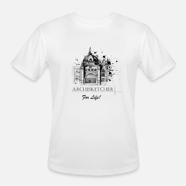 Australia Draw Archisketcher for Life! by Jack L Barton - Men's Moisture Wicking Performance T-Shirt