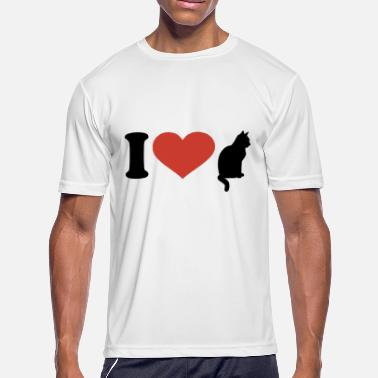 I love cat son T Shirt - Men's Moisture Wicking Performance T-Shirt
