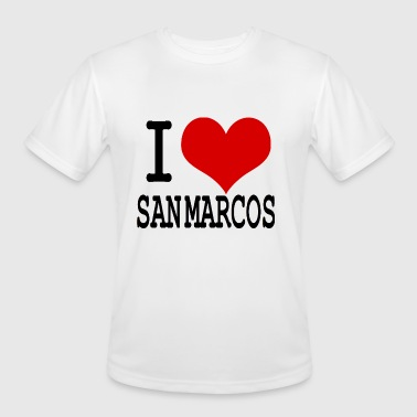 I HEART SAN MARCOS - Men's Moisture Wicking Performance T-Shirt