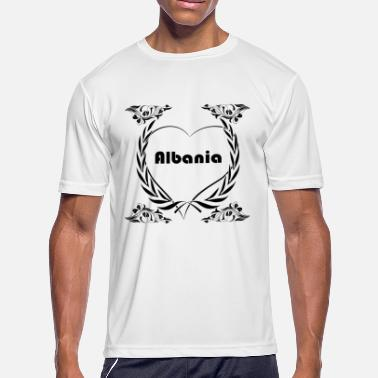 I Love Albania I love Albania - Men's Moisture Wicking Performance T-Shirt