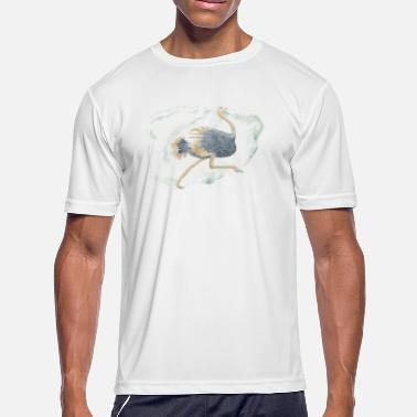 Watercolor Ostrich - Men's Sport T-Shirt