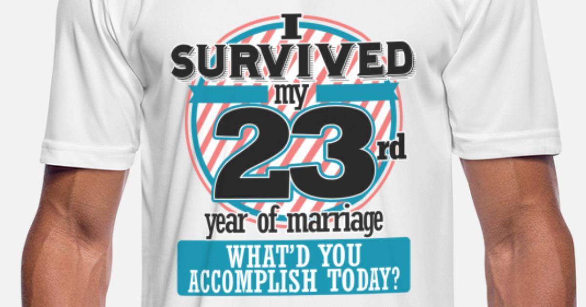 23rd Wedding Anniversary Gift Ideas: 23rd Wedding Anniversary Funny Gift Since Men's Sport T
