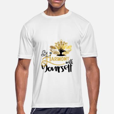 In Harmony Yoga be in harmony with yourself - Men's Moisture Wicking Performance T-Shirt