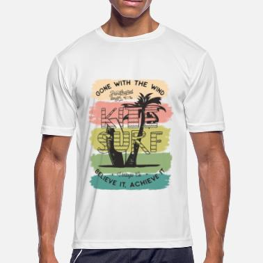 Kite Boarding Kite Surf - Men's Moisture Wicking Performance T-Shirt