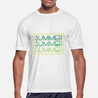 Summer Colors Summer - summer colors - beach - Men's Moisture Wicking Performance T-Shirt