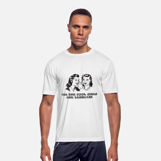 Couples T-Shirts - All The Cool Girls Are Lesbians T Shirts - Men's Sport T-Shirt white