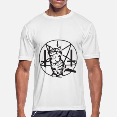 Baphomet Cat Purrrrr Evil Satanic Cat Kitten Baphomet soccer T - Men's Moisture Wicking Performance T-Shirt