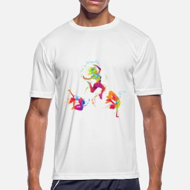 Trendy Urban Urban Colorful Splash dancer graphic - Men's Moisture Wicking Performance T-Shirt
