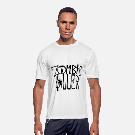 Horror T-Shirts - Zombie Killer (Control) - Men's Sport T-Shirt white