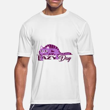 Lazy Day A lazy day cat colorful - Men's Moisture Wicking Performance T-Shirt