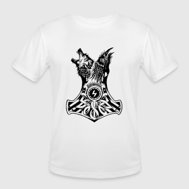 Raven Wolf WOLF AND RAVEN VIKING t shirts - Men's Moisture Wicking Performance T-Shirt