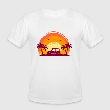 Surfbus Surfbus with sunset - Men's Moisture Wicking Performance T-Shirt