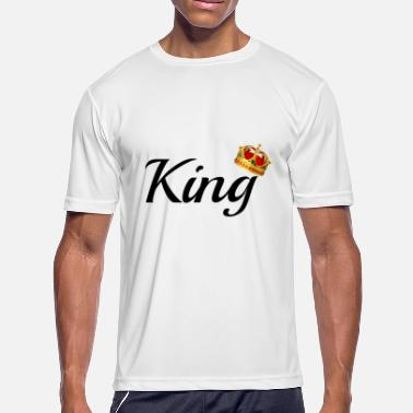 King And Queen Clothing King & Queen Couples Matching Shirts - Men's Moisture Wicking Performance T-Shirt