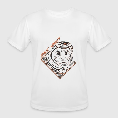 Space Monkey (Orange) - Men's Moisture Wicking Performance T-Shirt