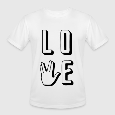 Prosper - Love Long and Prosper - Men's Moisture Wicking Performance T-Shirt