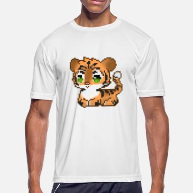 8 Bit Animal Tiger 8 BITS - Men's Moisture Wicking Performance T-Shirt