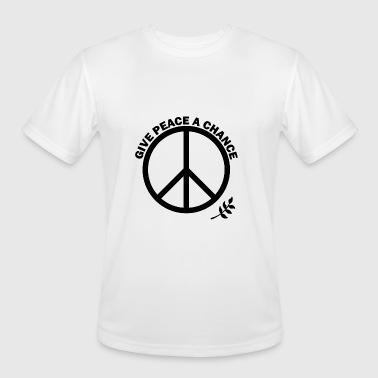 GIVE PEACE A CHANCE - Men's Moisture Wicking Performance T-Shirt