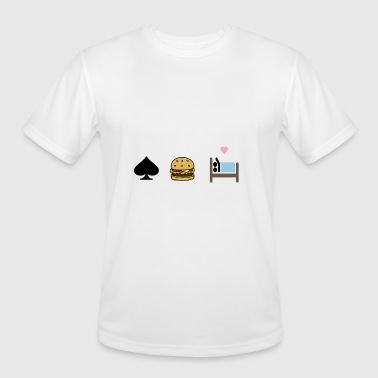 Girlfriend Poker poker Burger sex with girlfriend - Men's Moisture Wicking Performance T-Shirt