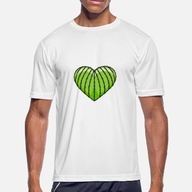 Cactus Heart Cactus Cacti Heart Love Gift - Men's Moisture Wicking Performance T-Shirt