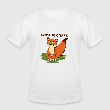 Oh for Fox Sake Fox lifting Big Tail - Men's Moisture Wicking Performance T-Shirt