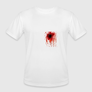 bullet hole - Men's Moisture Wicking Performance T-Shirt