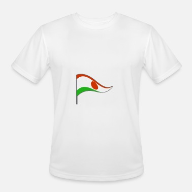 Niamey Niger Niamey Africa Flag Banner Flags Ensigns - Men's Moisture Wicking Performance T-Shirt