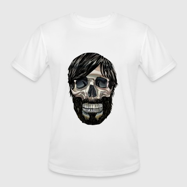 Graphic Skull Cool Graphic art Skull - Men's Moisture Wicking Performance T-Shirt