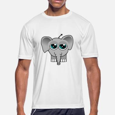 The Very Tired Girl Elephant Baby tired - Men's Sport T-Shirt
