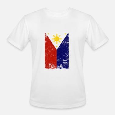 Filipino Vintage Filipino Vintage Distressed Philippines Flag - Men's Moisture Wicking Performance T-Shirt