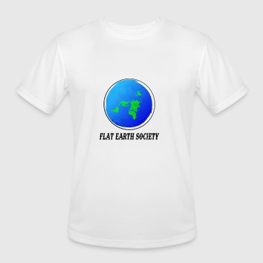 Flat Earth Society - Men's Moisture Wicking Performance T-Shirt