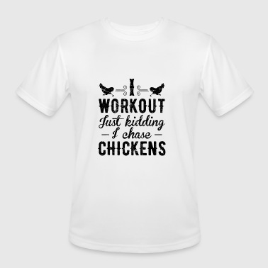 Chasing Chicken I chase Chickens Funny Chicken Shirt - Men's Moisture Wicking Performance T-Shirt