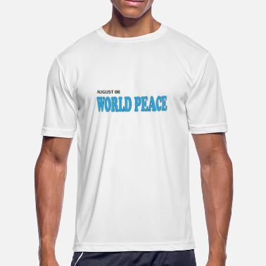 Takecare world peace in august - Men's Moisture Wicking Performance T-Shirt