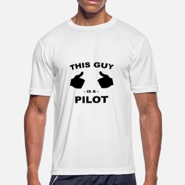 Thumbs Pointing At Me Pilot - Men's Moisture Wicking Performance T-Shirt
