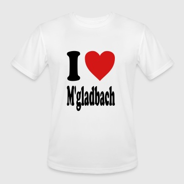 I love Moenchengladbach (variable colors!) - Men's Moisture Wicking Performance T-Shirt
