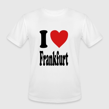 I Love Frankfurt I love Frankfurt (variable colors!) - Men's Moisture Wicking Performance T-Shirt