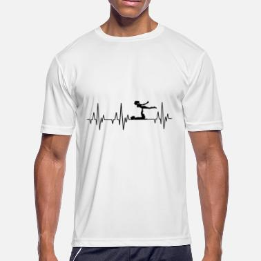 Acrobatic Heartbeat Gymnastics Gymnast Acrobatics Fitness - Men's Moisture Wicking Performance T-Shirt
