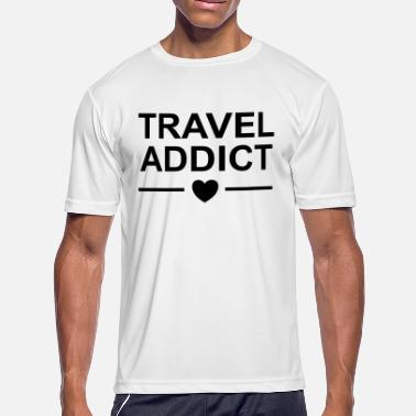Travel Bug Travel addict heart / bug, lust, - Men's Moisture Wicking Performance T-Shirt