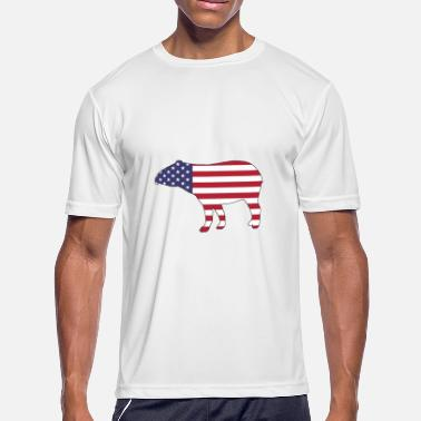 Tapir With Baby American Flag - Tapir - Men's Moisture Wicking Performance T-Shirt
