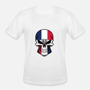 91224982 Dominican Flag Skull Men's Premium T-Shirt | Spreadshirt