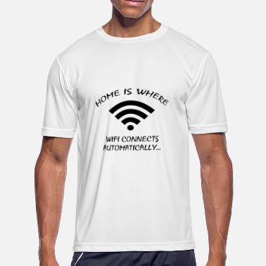 Franconian Home Is Where Wifi Connects Automatically - Men's Moisture Wicking Performance T-Shirt