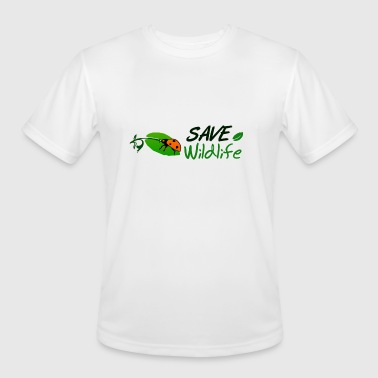 Save Wildlife - Men's Moisture Wicking Performance T-Shirt