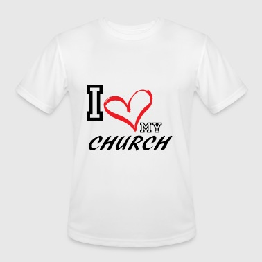I_LOVE_MY_CHURCH - PLUS SIZE FIT - Men's Moisture Wicking Performance T-Shirt