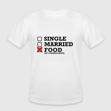 Single Married Single - Married - Food - Men's Moisture Wicking Performance T-Shirt