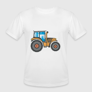 Tractor Image - Men's Moisture Wicking Performance T-Shirt