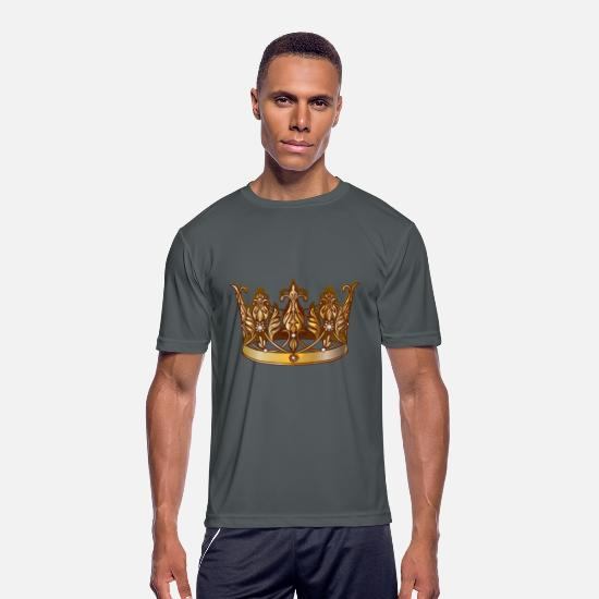 Royal null - Cool Royal gold crown jewels image - Men's Sport T-Shirt charcoal